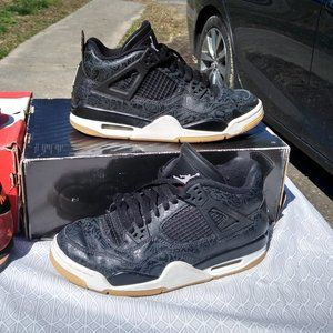 Nike air jordan iv 4 black tan clean 6.5y